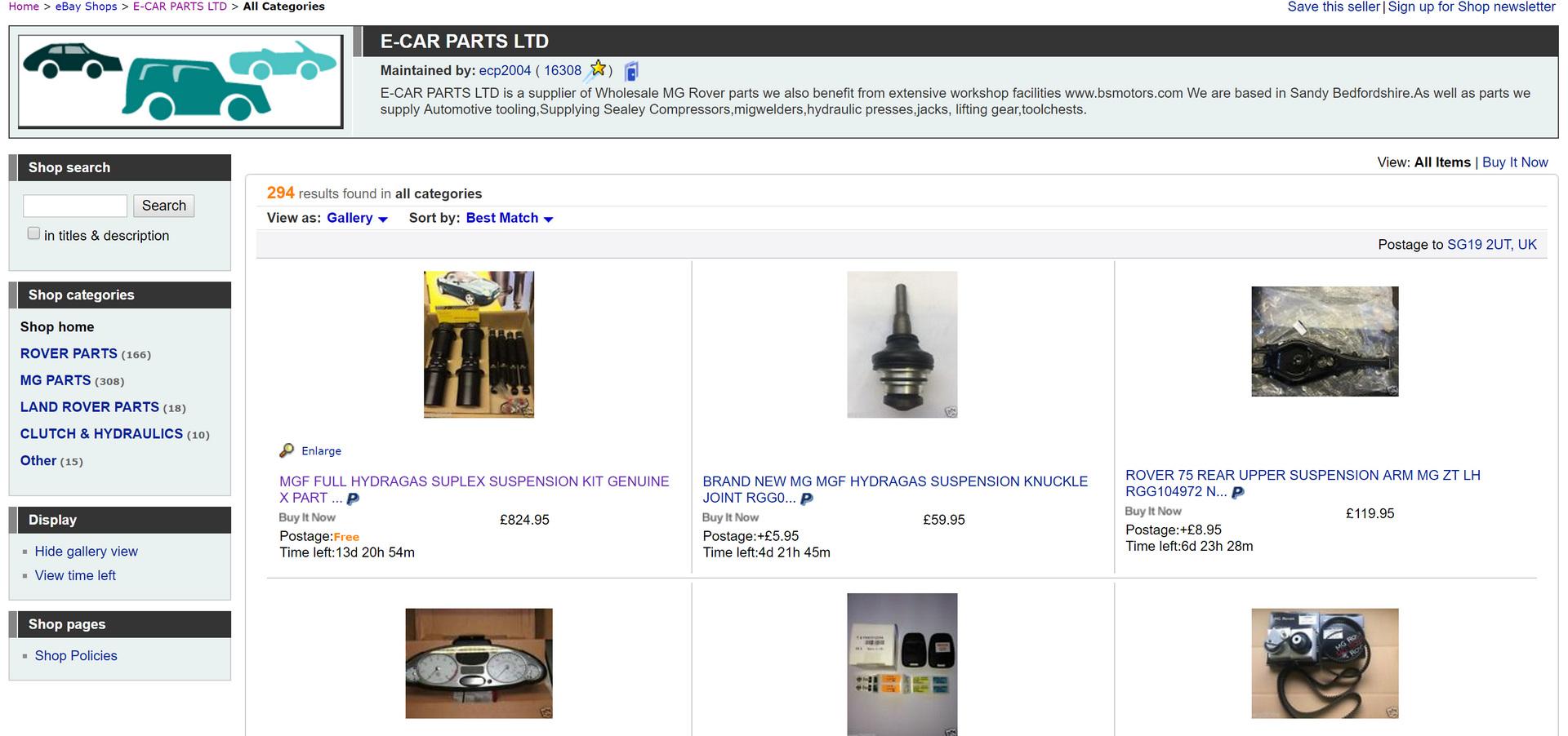 Ebay bs motors sandy for Ebay motors warehouse in billings montana